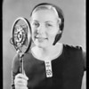 Velva Darling at microphone, Southern California, 1930
