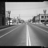 Intersection of Venice Boulevard and Olive Street, Los Angeles, CA, 1940