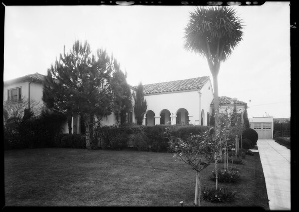 House at 427 South Highland Avenue, Los Angeles, CA, 1930