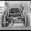 Chassis of truck, Langlois Brothers, Southern California, 1930