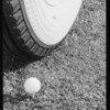 Vogue tire and golf balls, Southern California, 1934