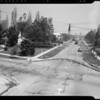 Showing street work on Darley property, 3301 Country Club Drive, Los Angeles, CA, 1940
