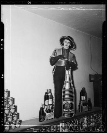 Don Sparkeeta at Carty Brothers Market, 4338 Crenshaw Boulevard, Los Angeles, CA, 1940