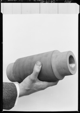 Rubber plunger, Southern California, 1926