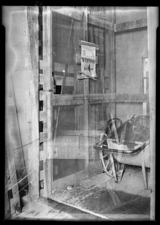 Elevator shaft, Edison Co. building, Southern California, 1931 [image 12]