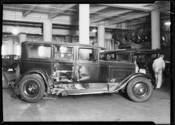 Packard sedan #2N9205 belonging to Gibson in Union Auto Insurance garage, Southern California, 1930