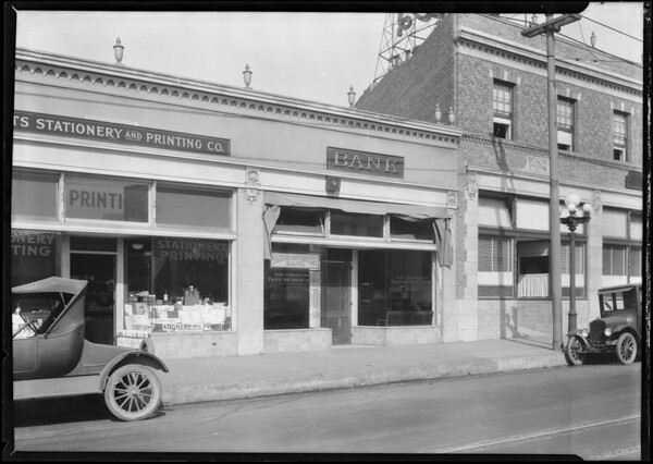 10th Street [Olympic Boulevard] & Broadway branch, Pacific Southwest Bank, Los Angeles, CA, 1924