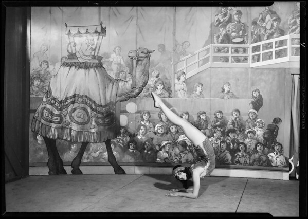 May Co. circus, Pearl Kellar, Southern California, 1930