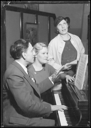 Rehearsal publicity, Southern California, 1934