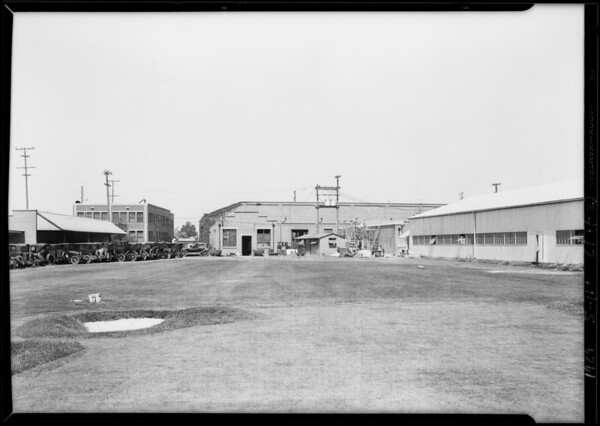 Shots of new airplane factory for composite, Southern California, 1929