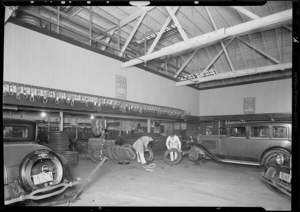Former students at their work, National Automotive School, Southern California, 1930