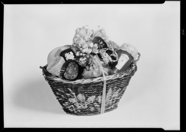 Fancy candy baskets, May Co, Southern California, 1930