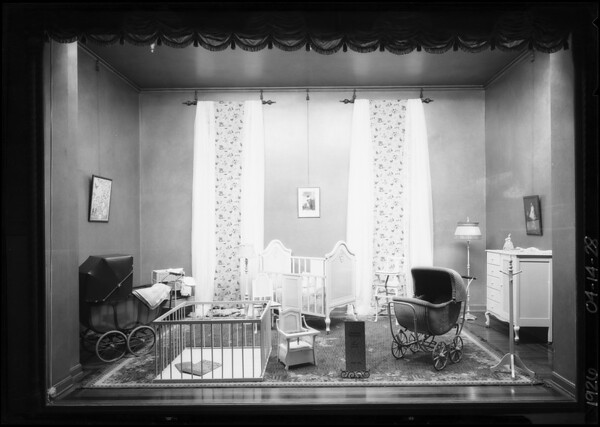 Barker Brothers window, Southern California, 1926