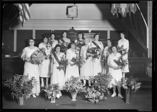 Officers of Womens Legion, Moose Lodge, Southern California, 1931