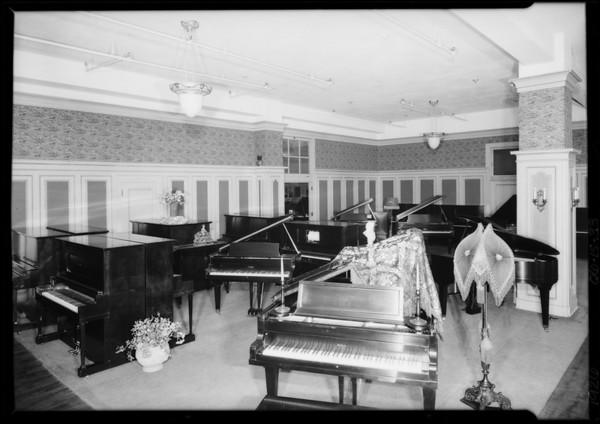 Piano department, Los Angeles, CA, 1926