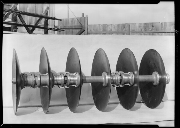 Tiller and parts, Southern California, 1930