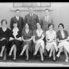 Girls and men group, Los Angeles, CA, 1931