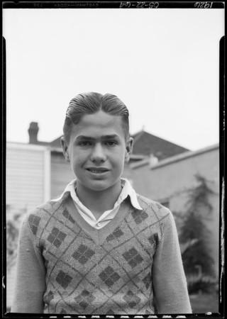 Taken in yard, Southern California, 1926