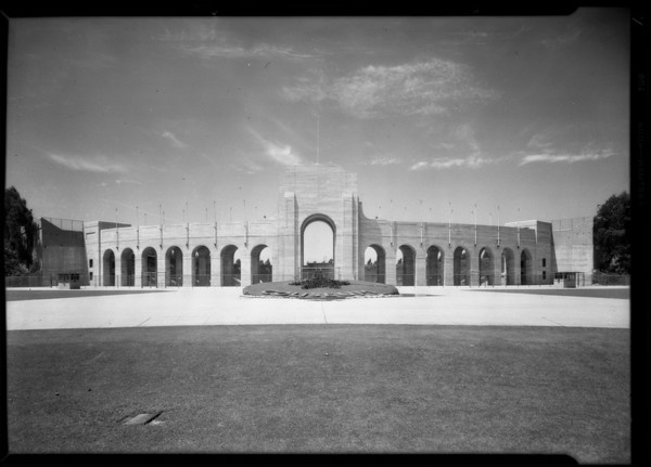 Coliseum interior & exterior, Los Angeles, CA, 1929