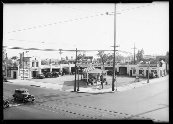 Independent service station, Southern California, 1932