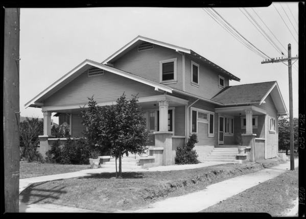 503 West Raymond, Southern California, 1926