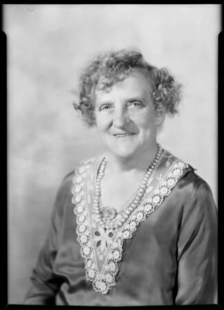 Mrs. Gatenby, Southern California, 1930