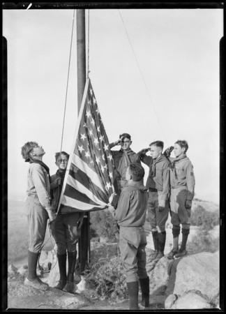 Ceremonies at Mount Rubidoux, Riverside, CA, 1926