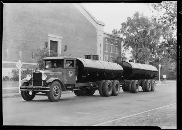 Tank truck and trailer, El Camino Gas Co., Southern California, 1930