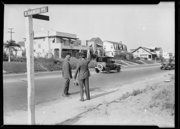 Yellow Cab Co., lantern slides, the cab on the streets, Southern California, 1926