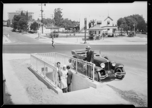 Safety measures for autos & pedestrians, Southern California, 1931