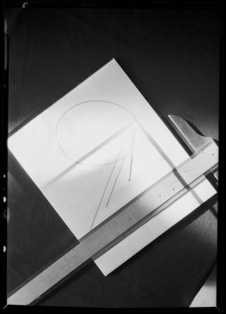 Layout board, Southern California, 1931