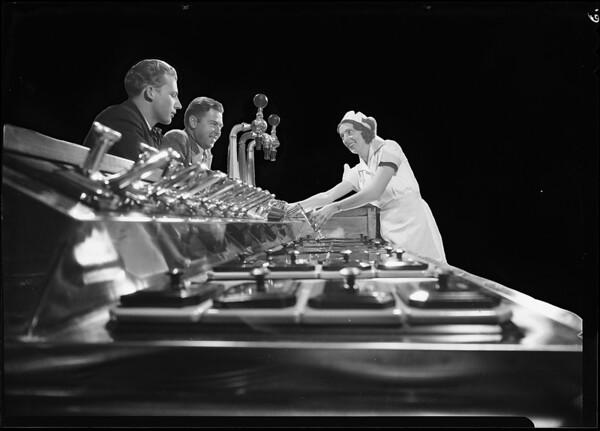 Soda fountain shots, Weber Showcase & Co., Southern California, 1931