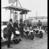 Venice police filling up with Purr-Pull gas, 11520 Washington Boulevard, Los Angeles, CA, 1930