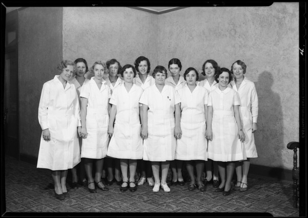 Doctors, nurses, employees, etc., Southern California, 1930