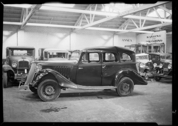 Damage to Essex sedan, Globe Indemnity, Southern California, 1935
