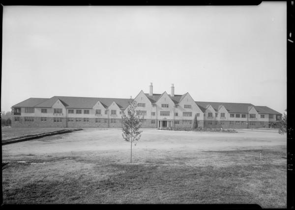 State hospital building at Norwalk, CA, 1927