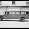 Mount Saint Mary's College bus, Southern California, 1931