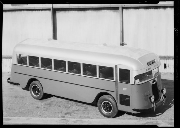 Venice - Los Angeles bus, Crown Body Corporation, Southern California, 1934