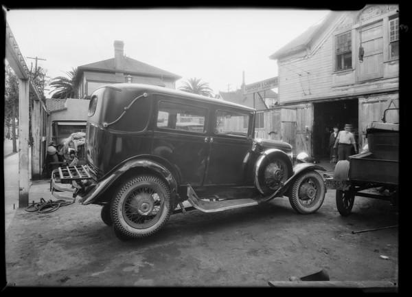 Essex coach, Union Auto Insurance, Southern California, 1931