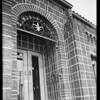 Doorway to new office on Boyle Avenue, Southern California, 1930