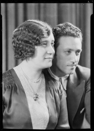 Henry and mother, Southern California, 1931