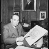 Mr. Frank in his office, Los Angeles, CA, 1934