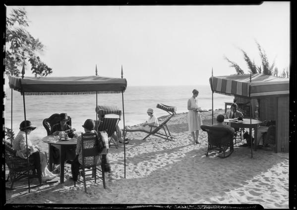 Tea room at Castellammare, Los Angeles, CA, 1926