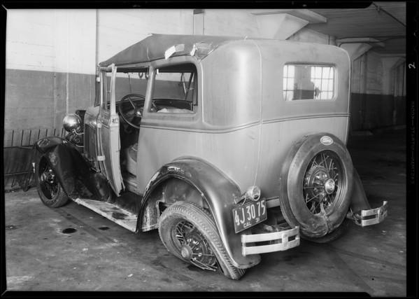 Ford sedan, Elite Garage, Los Angeles, CA, 1931