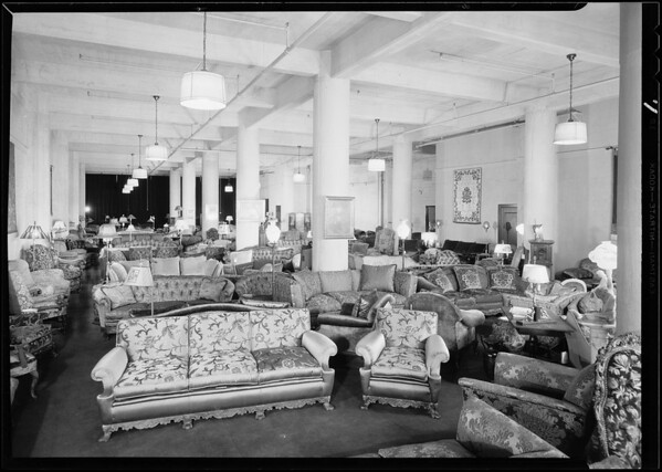 Interior of display room, Southern California, 1930