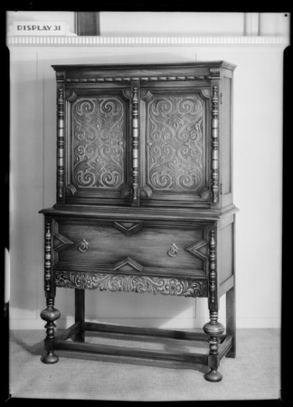 Furniture ensemble & cabinet, Southern California, 1931