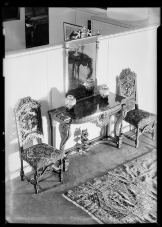 'Old world' furniture, May Co., Southern California, 1931