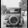 Cadillac trunk, Southern California, 1927