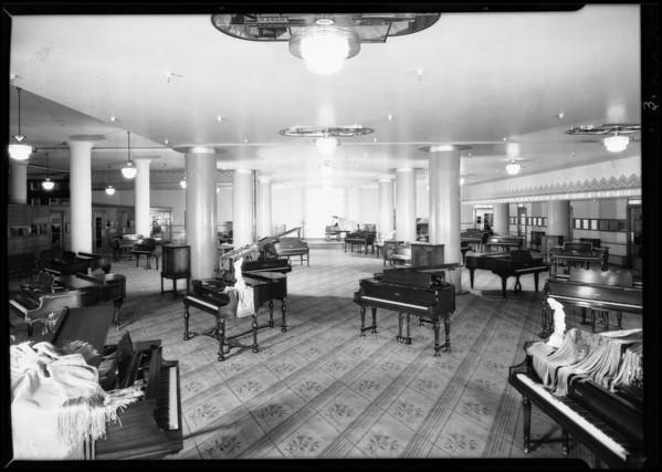 Piano department, May Company, Southern California, 1930