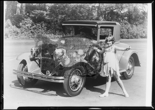 Cars with Woodlites, Southern California, 1929